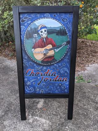 Chordin Jordan Custom Board Painting