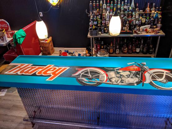 Harley Davidson Bar Top