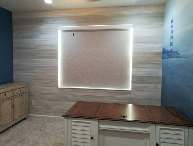 painted drywall planks