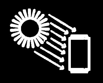 Ilustração protege contra a luz.