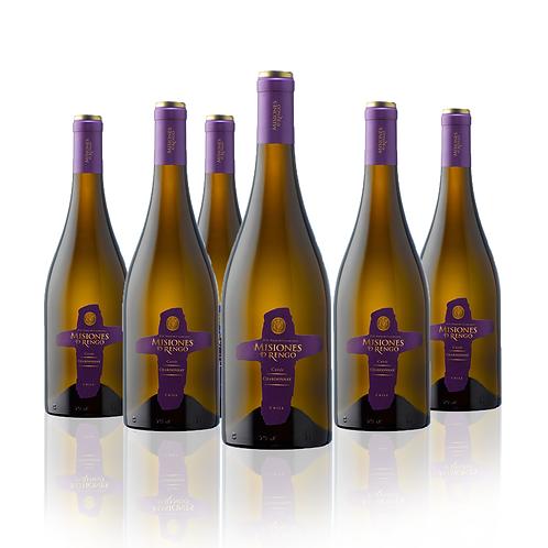 6 Pack Misiones de Rengo Chardonnay , Gran Reserva Cuveé 750cc