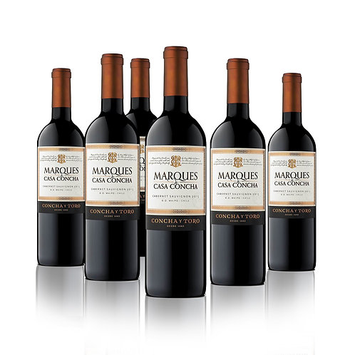 Marques Casa Concha , Variedades tintas ,  750 cc 6 Pack