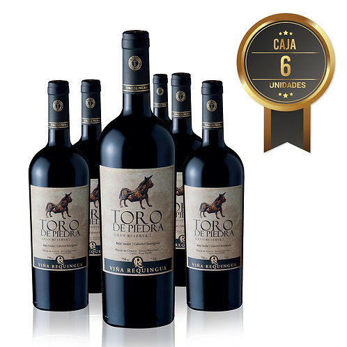 6 Pack, Toro de Piedra, Petit Verdot/Cabernet, Gran Reserva, Viña Requingua