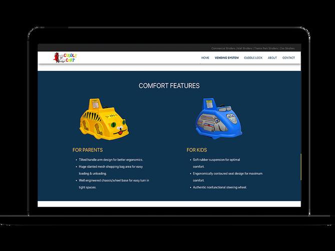sbdevelops - cuddle cart website project screenshot #6