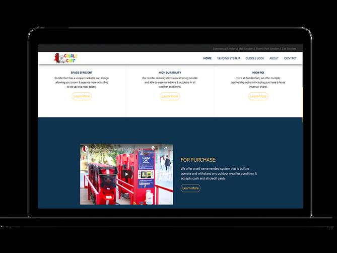 sbdevelops - cuddle cart website project screenshot #3
