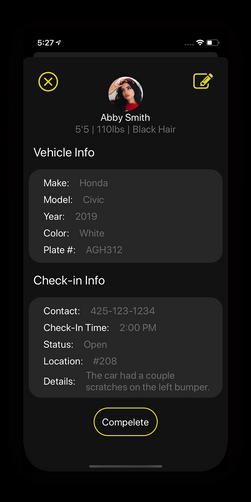 sbdevelops - valet app project screenshot #4