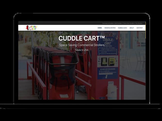 sbdevelops - cuddle cart website project screenshot #1