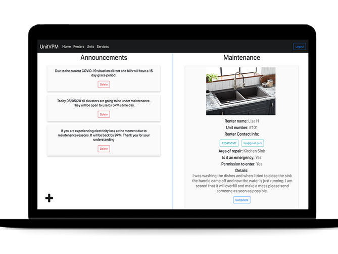 sbdevelops - property management project screenshot #2