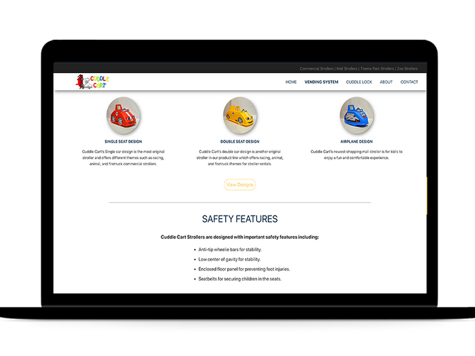 sbdevelops - cuddle cart website project screenshot #2