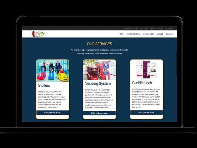 sbdevelops - cuddle cart website project screenshot #5