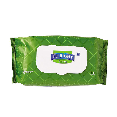 FitRight Aloe Personal Cleansing Cloths