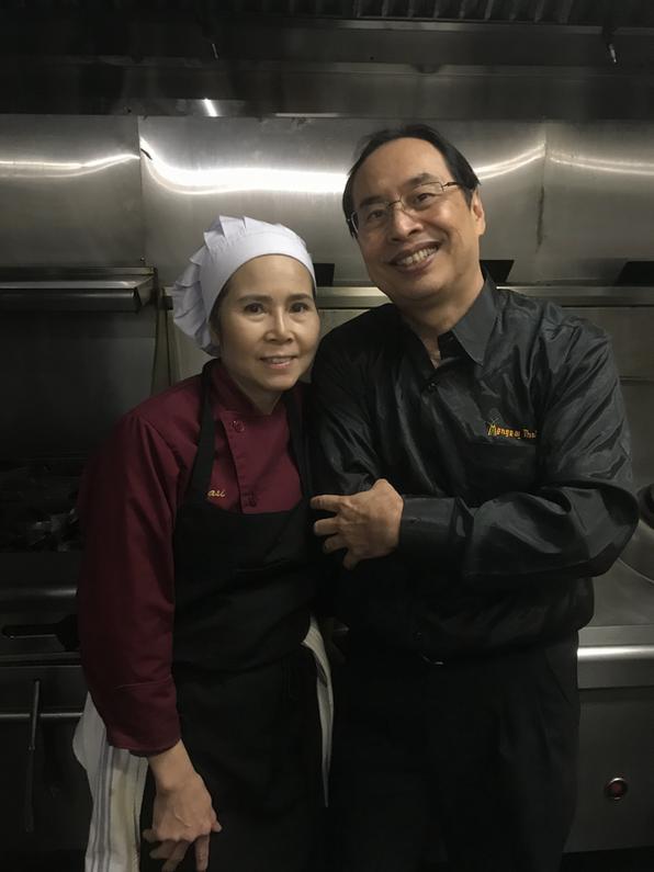 Mengrai Thai's dynamic husband and wife duo: Award-winning Chef Sasi Meechai and Allan Lim