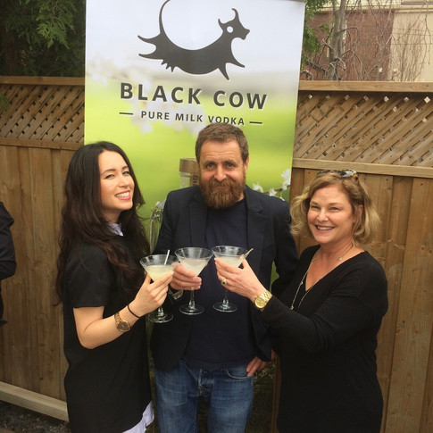 With Black Cow co-founder, Archie, at the Canadian product launch