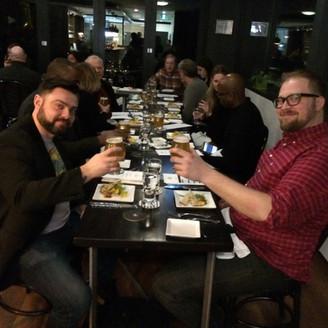 The Exchange Brewery beer pairing dinner