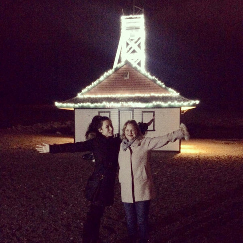 Managing media (and posing for photos) at the annual DeClute Light Up the Beach event