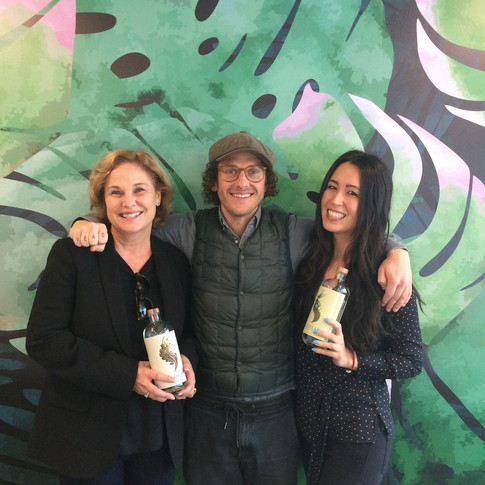 Prepping for a tasting at Foodism's office with Seedlip founder, Ben Branson