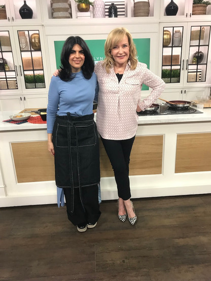 Making butter chicken lasagna on The Marilyn Denis Show