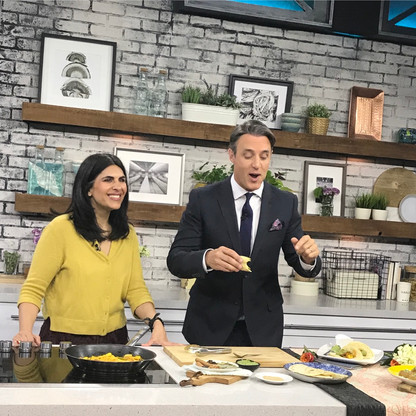 British-Indian TV chef, 8-time cookbook author and founder of The Spice Tailor, Anjum Anand on CTV Your Morning with Ben Mulroney