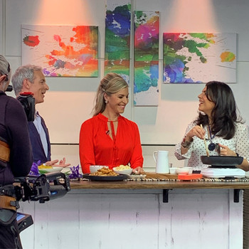 Anjum Anand whips up another tasty batch of Indian snacks for The Morning Show