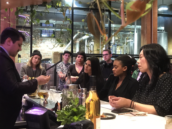 The judging panel at Giffard's Caribbean Pineapple cocktail competition at Spirit of York