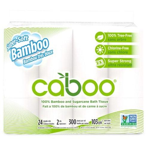 Caboo Jumbo 24 Pack Toilet Tissue