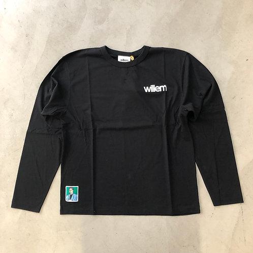 Long Sleeve Tee - Erased - Black