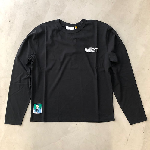 Long Sleeve Tee - Embroidery - Black