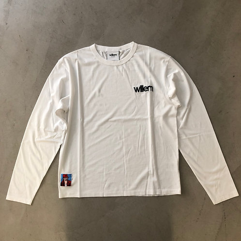 Long Sleeve Tee - Embroidery - White
