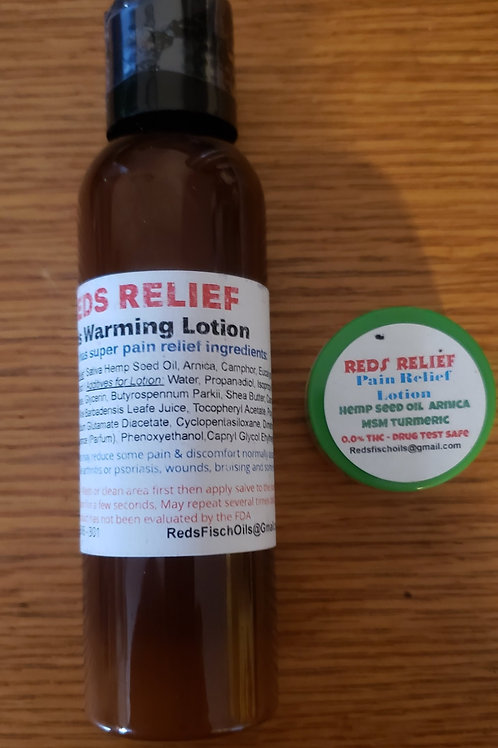 Reds Relief Warming Lotion Combo