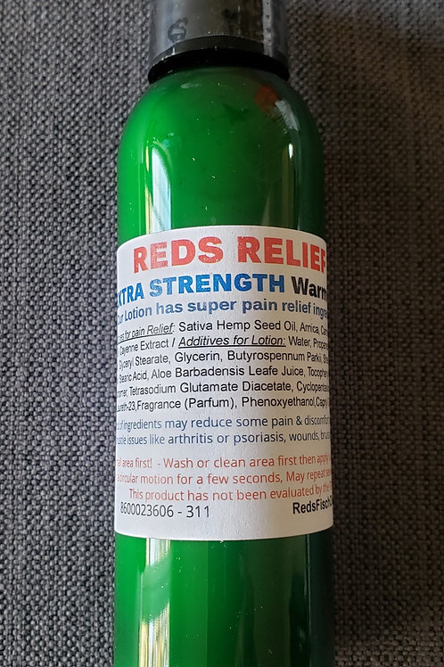 Reds Relief Extra Strength Warming lotion