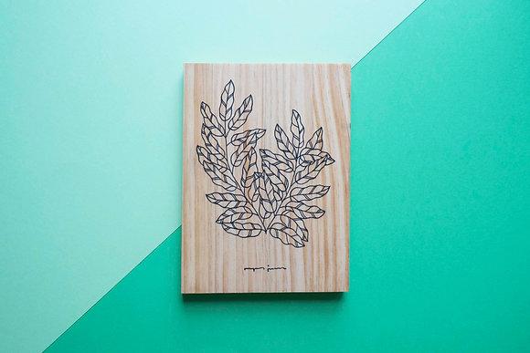 Ramitas de madera - Hojitas alargadas