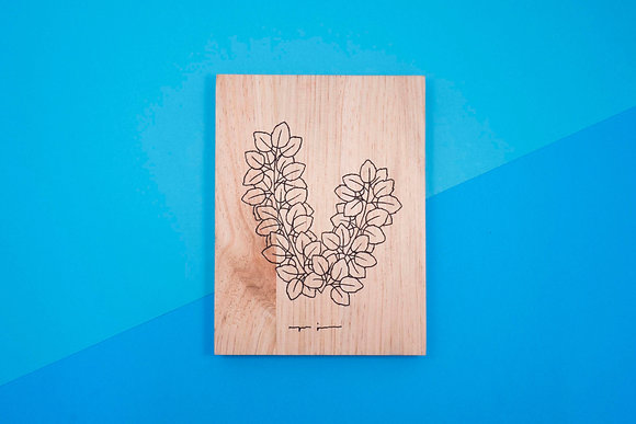 Ramitas de madera - Hojitas de rosal
