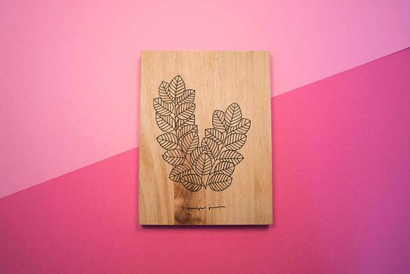 Ramitas de madera - Hojitas rayadas