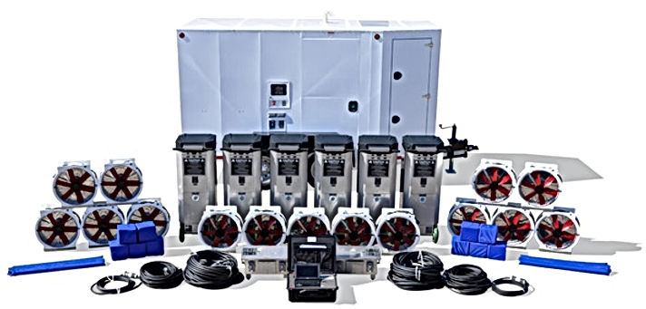 Bedbug heat remediation equipment