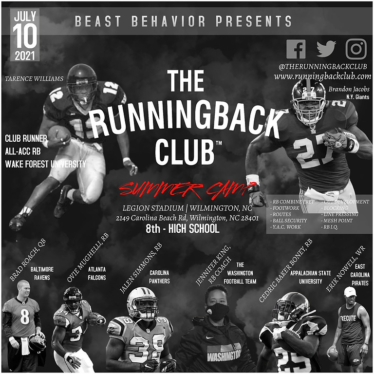 The Running Back Club 2021 Summer Camp