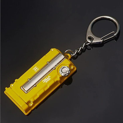 Honda engine keyring (yellow)