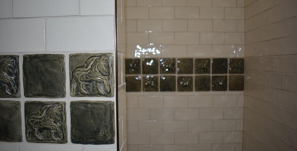 Custom stoneware tiles