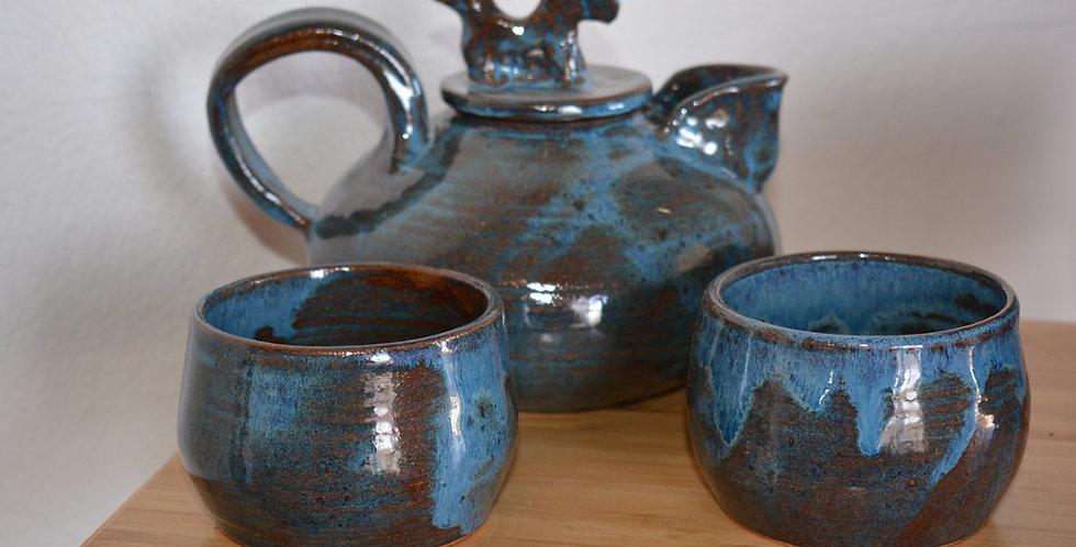 Tahoe Blue Tea Set