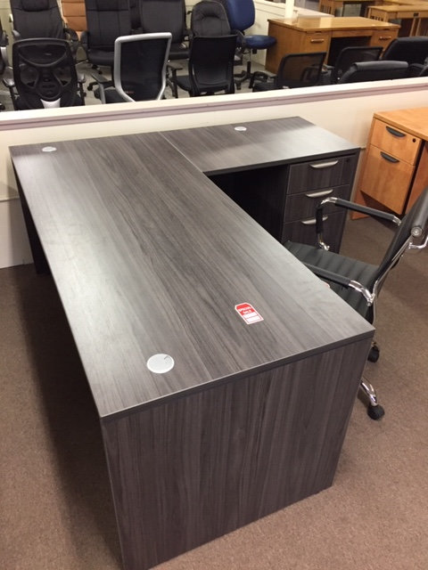 Laminate Desk and Return (Display is Costal Gray)