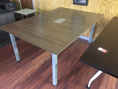 Modern Walnut Conference Table