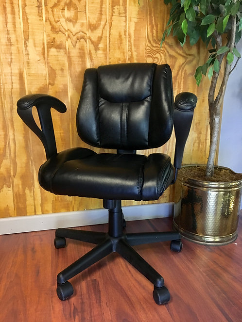 Used Black Leather Computer Chairs