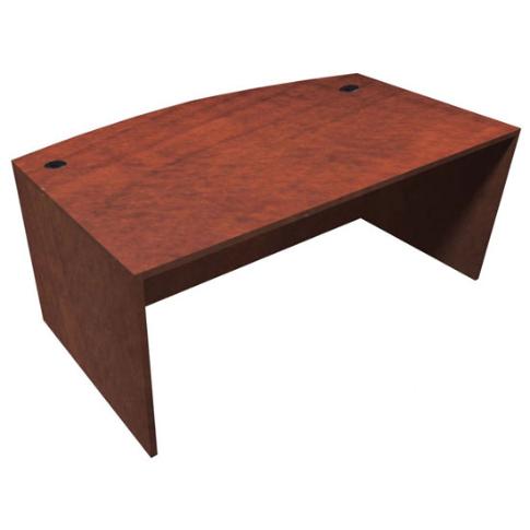 """71""""W x 36/41""""D Bow Front Desk"""