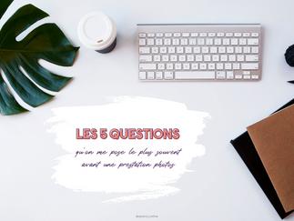 Les 5 questions que l'on me pose le plus avant une prestation photographique