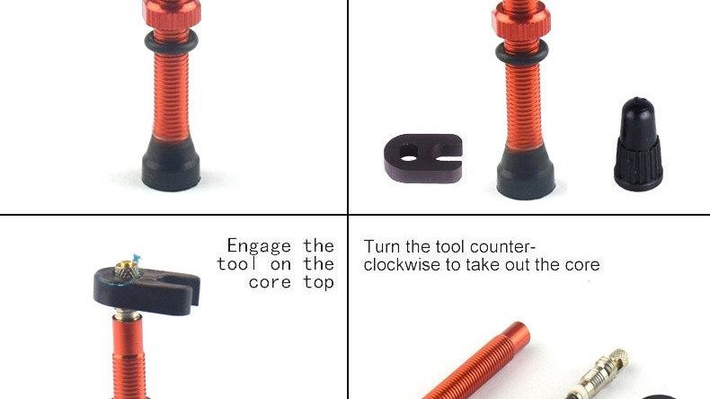 Tubeless valve + black tool