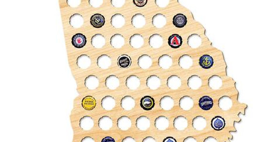 Georgia Beer Cap Map