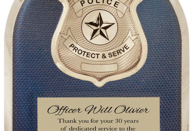 Police Hero Plaque