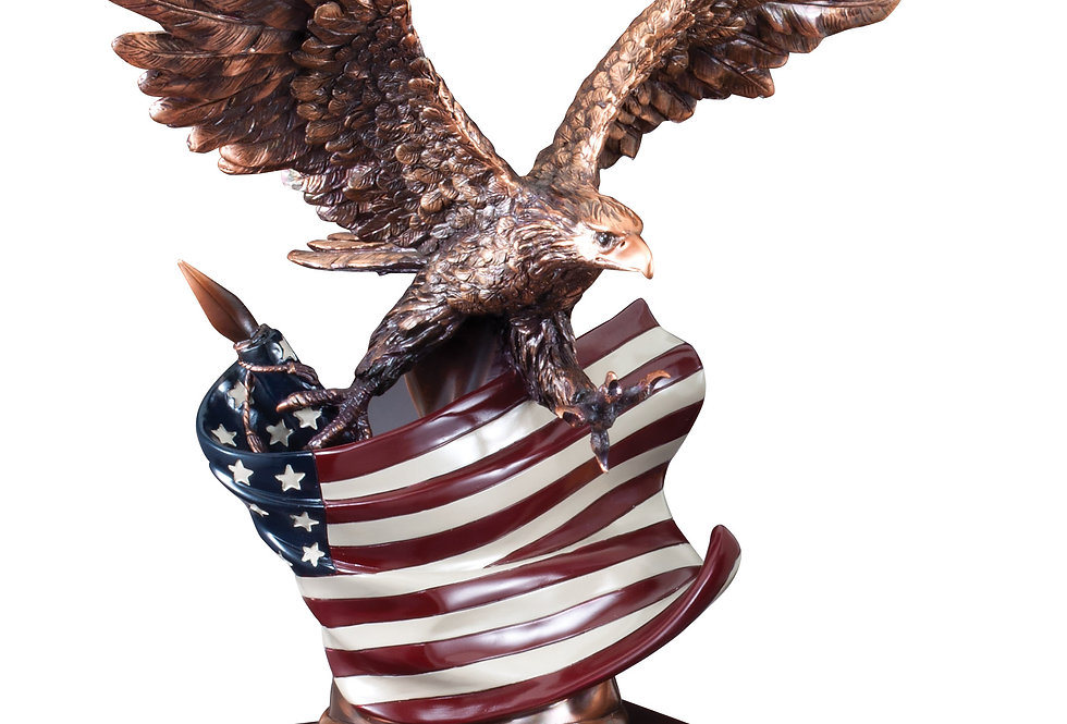"Eagle on Flag 14 1/2"" X 12"""