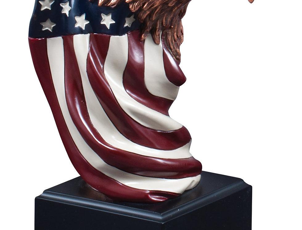 Eagle Head on Flag