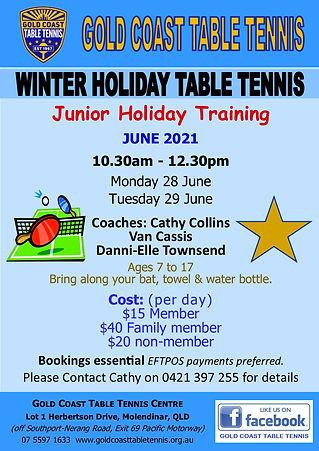 Junior Holiday Training - 28 & 29 June 2