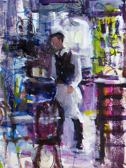 Waiter at Chez Antoinette by Soraya French